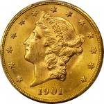 1901-S Liberty Head Double Eagle. MS-64+ (PCGS). CAC.