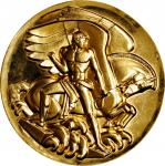 Undated Carnegie Corporation Medal. Gold Plated Bronze. 103.0 mm. By Paul Manship. Mint State.