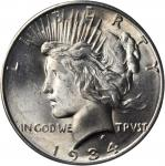 1934-D Peace Silver Dollar. MS-65 (PCGS). OGH.