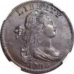 1798 Draped Bust Cent. S-161. Rarity-2. Style I Hair. MS-63 BN (NGC).