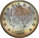 1911 Liberty Head Nickel. MS-67 (PCGS). CAC.