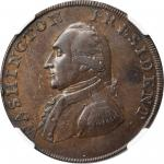 1793/2 Ship Halfpenny. Musante GW-20, Baker-18, W-10855. Copper. Lettered Edge. EF-45 BN (NGC).