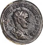 TRAJAN DECIUS, A.D. 249-251. AE Double Sestertius (58.89 gms), Rome Mint, A.D. 250. NGC EF, Strike:
