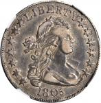 1805 Draped Bust Half Dollar. O-113b, T-1. Rarity-7. VF-35 (NGC).