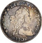 1802 Draped Bust Silver Dollar. BB-241, B-6. Rarity-1. Narrow Date. VF-20 (ANACS). OH.