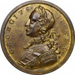 1758 British Victories Medal. Brass, 43 mm. Betts-416, Eimer-662. About Uncirculated.