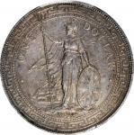 1898-B年英国贸易银元站洋壹圆银币。孟买铸币厂。 GREAT BRITAIN. Trade Dollar, 1898-B. Bombay Mint. Victoria. PCGS AU-55.