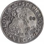 1580年波兰1Taler银币 PCGS Genuine