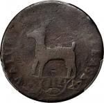 1739Higley鹿图案铜币 PCGS G 4