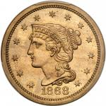 1868 Pattern Ten Cents. Nickel, plain edge. PCGS PF66