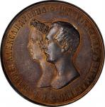 RUSSIA. Marriage of Alexander Nikolaevich and Maria Alexandrovna Silver Medallic Ruble, 1841. St. Pe