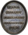 """1783"" Royal Society of Edinburgh Member's Medal. Silver. Oval 36.8 mm x 29.0 mm. 230.9 grains, 2.2"