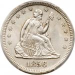 1856-S Liberty Seated Quarter Dollar. PCGS MS62