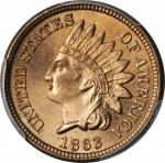 1863 Indian Cent. MS-66+ (PCGS).