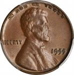 1955 Lincoln Cent. FS-101. Doubled Die Obverse. MS-62 BN (PCGS).