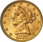 1887-S Liberty Head Half Eagle. MS-65 (PCGS). CAC.