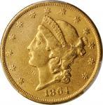 1864 Liberty Head Double Eagle. AU Details--Cleaned (PCGS).