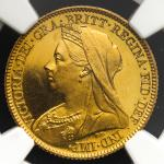 GREAT BRITAIN Victoria ヴィクトリア(1837~1901) 1/2Sovereign 1893 NGC-PF63 Ultra Cameo Proof UNC
