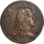 1793 Liberty Cap Cent. S-13. Rarity-4-. AU-53 (PCGS).