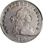 1800 Draped Bust Silver Dollar. BB-188, B-8. Rarity-4. EF Details--Cleaned (PCGS).