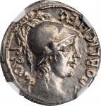 POMPEY JUNIOR. AR Denarius (3.82 gms), Corduba Mint; Marcus Poblicius, legatus pro praetore, 46-45 B