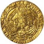 英国。亨利六世,一世(1422-61)1/2诺布尔金币。加莱造币厂。