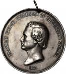 1853 Franklin Pierce Indian Peace Medal. Silver. First Size. Julian IP-32, Prucha-49. Choice Very Fi