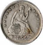 1854 Liberty Seated Quarter. Arrows. EF-40 (PCGS).