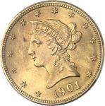 USA République fédérale des États-Unis d'Amérique (1776-à nos jours). 10 dollars Liberty 1901, Phila