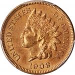 1908-S Indian Cent. Unc Details--Cleaned (PCGS).