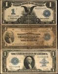 Lot of (3) Mixed Large Size Notes. 1899-1923. $1. Very Good to Very Fine.