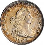 1803 Draped Bust Half Dollar. O-103, T-3. Rarity-3. Large 3. AU-55 (PCGS).