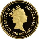 AUSTRALIA. 100 Dollars, 1986. GEM BRILLIANT PROOF.