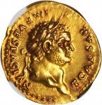 TITUS AS CAESAR, A.D. 69-79. AV Aureus (7.35 gms), Rome Mint, ca. A.D. 75.
