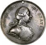 Undated (ca. 1776-1814) George III Indian Peace Medal. Large Size. Adams 7.3. (Obverse 3, Reverse B)
