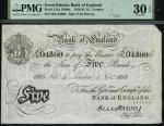 x Bank of England, E. M. Harvey, £5, London, 4 November 1918, serial number 78/E 04360, (EPM B209a,