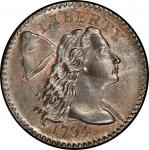 1794 Liberty Cap Cent. Sheldon-57. Head of 1794. Rarity-1. Mint State-65 RB (PCGS).