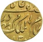 HYDERABAD: Mir Mahbub Ali Khan, 1868-1911, AV ashrafi (11.07g), Farkhunda Bunyad, AH1300 year 17, Y-
