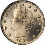 1903 Liberty Head Nickel. MS-67 (NGC).