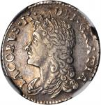 IRELAND. 6 Pence Gun Money, 1689-Feb. James II (1685-91). NGC PROOF-50.
