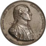1779 (1880-1901) Captain John Paul Jones Naval Medal. Paris Mint Restrike. Silver. 56 mm. 77.3 grams