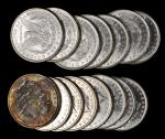 Lot of (15) 1884-O Morgan Silver Dollars. Average MS-60 to MS-62.