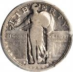 1916 Standing Liberty Quarter. Good Details--Graffiti (PCGS).