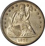 1859-O Liberty Seated Silver Dollar. OC-1. Rarity-1. MS-65 (PCGS).
