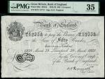 Bank of England, Kenneth Oswald Peppiatt (1934-1949), 50, Liverpool, 29 March 1938, serial number 92