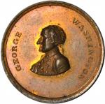 Undated (C. 1862) Avoid The Extremes of Party Spirit Medalet. Oreide. 27.5 mm. By John Adams Bowlen.