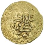 SALGHURID: Abu Bakr, 1231-1260, pale AV dinar (3.07g), NM, ND, A-A1928.3, without the caliph, citing