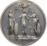 1782 Frisian Recognition of American Independence Medal. Silver. 44 mm. 30.14 grams. Betts-602. Spec