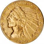 1908-D Indian Half Eagle. MS-62 (PCGS).