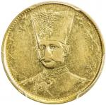Lot 836 IRAN: Nasir al-Din Shah, 1848-1896, AV toman, Tehran, AH1297, KM-933, date in upper left are